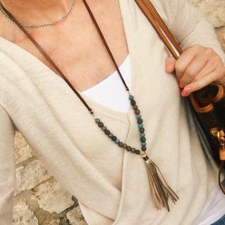etika necklace with tassel