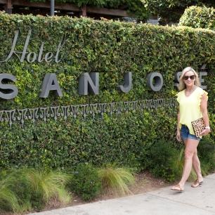 Yellow Wooden Ships and Knits Top at Hotel San Jose