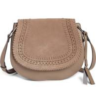 Vince Camuto Suede and Leather Crossbody